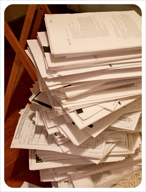 Pile of Academic Paperwork