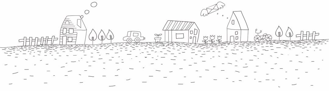 tekening dorp