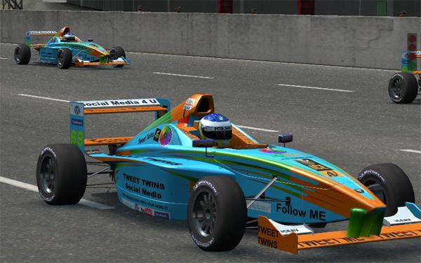 Tweet Twins Formula BMW FB02 Team Race Car
