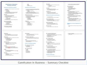 Gamification in Business Summary Checklist Jenny Wilmshurst