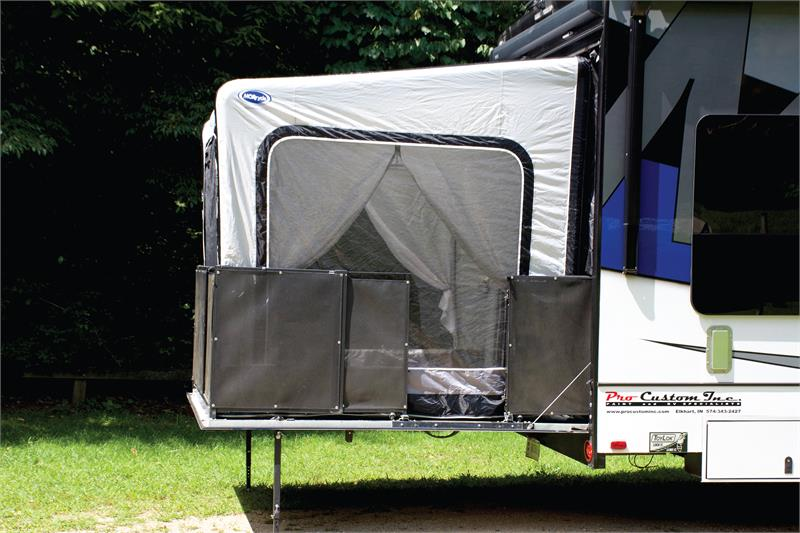 morryde thp ex2 patio ex 5th wheel toy hauler airbeam tent living space