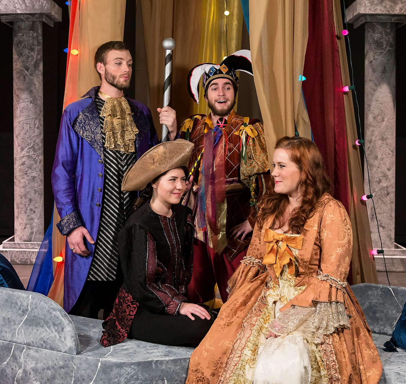 The cast of UCSB's production of Twelfth Night