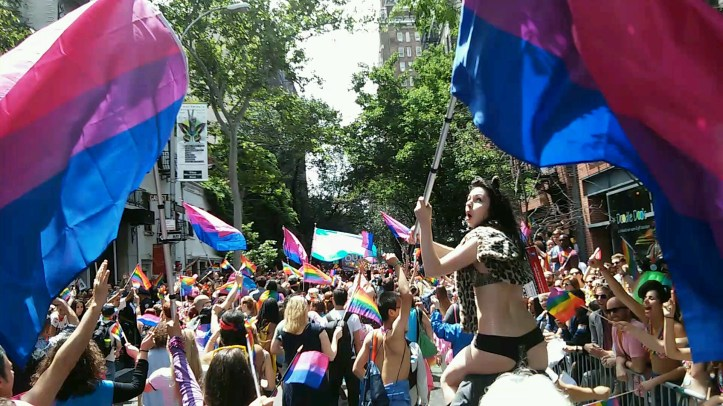 POV of Pride 2015 on Christopher St.