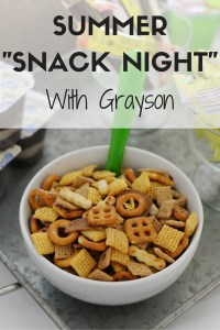 """Summer """"Snack Night"""" With Grayson"""