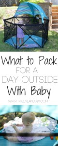 What To Pack For A Day Outside With Baby