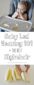 Baby Led Weaning 101 + The Best Highchair