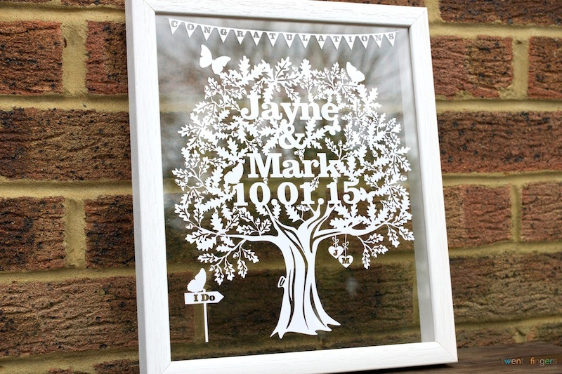 Unique Wedding Gifts Ideas. Personalised Papercuts