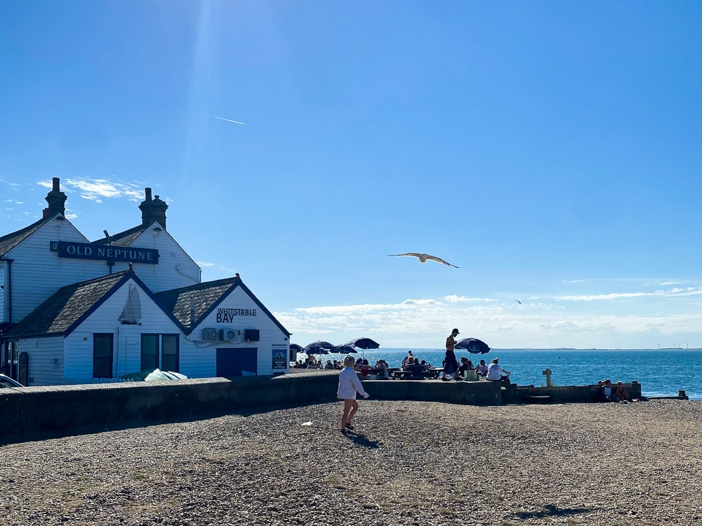 Visiter le Kent : Whitstable beach