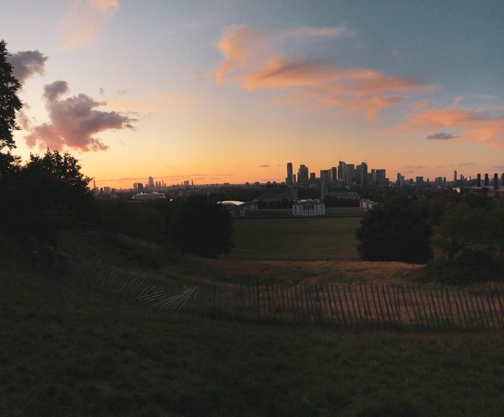 Coucher de soleil à Greenwich Park