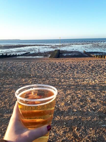 Photo de bord de mer en Angleterre, Whitstable