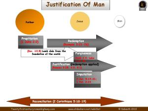PIC justification of man