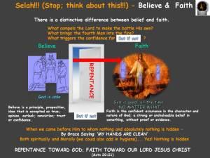 believe and faith Selah