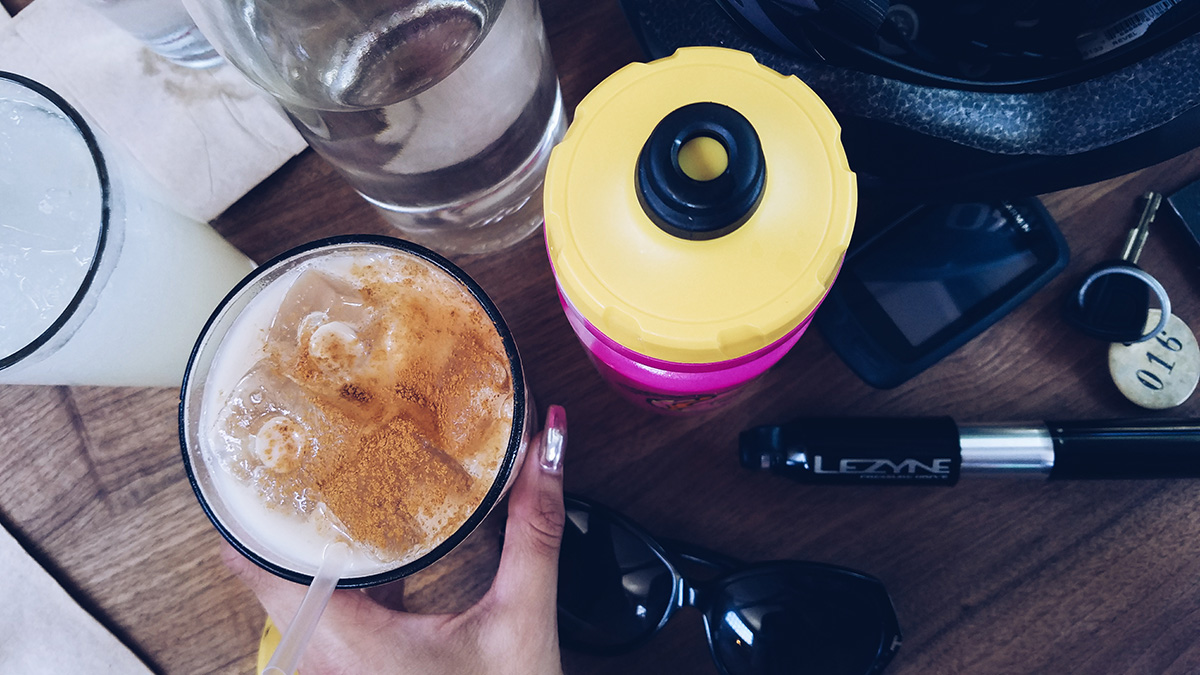 chai tea latte @ pedalers fork