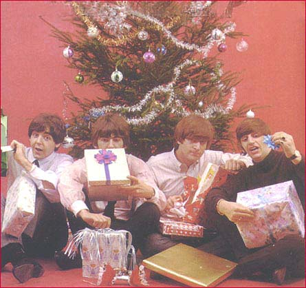 Beatles= in_front_of_tree