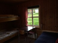 As you can mostly see, the cabin hada bunk bed, single bed, table&chair, stove and fridge