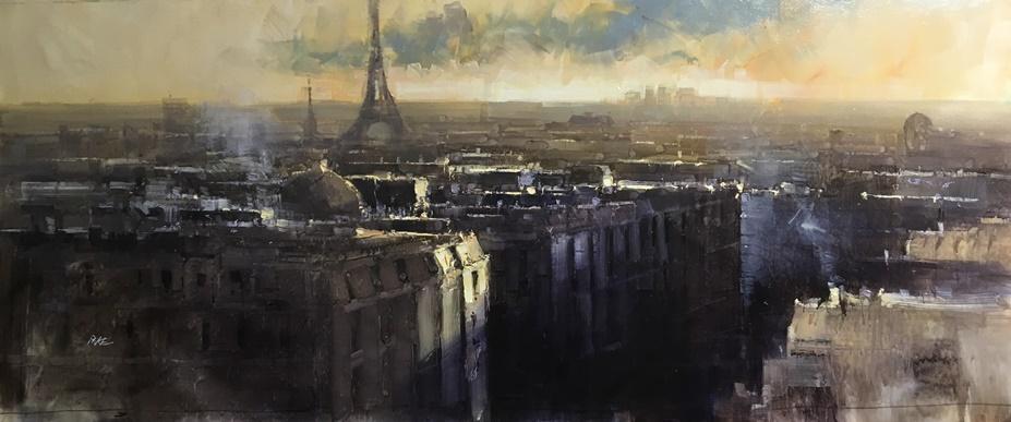 Paris rooftops, Herman Pekel