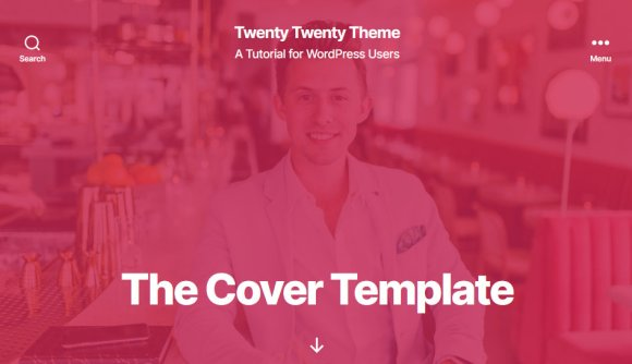 Twenty Twenty theme cover template is ideal for service professionals homepages.