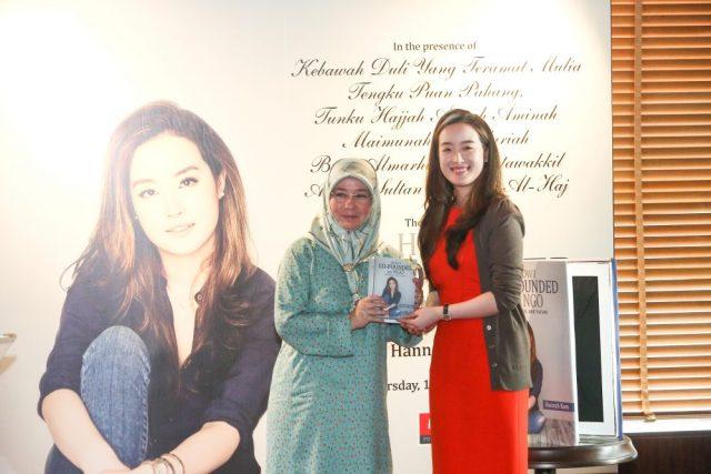 Tunku Azizah Aminah Maimunah Iskandariah and Hannah Kam