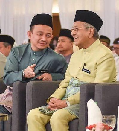 Maszlee Malik and Tun Dr Mahathir Mohamad.