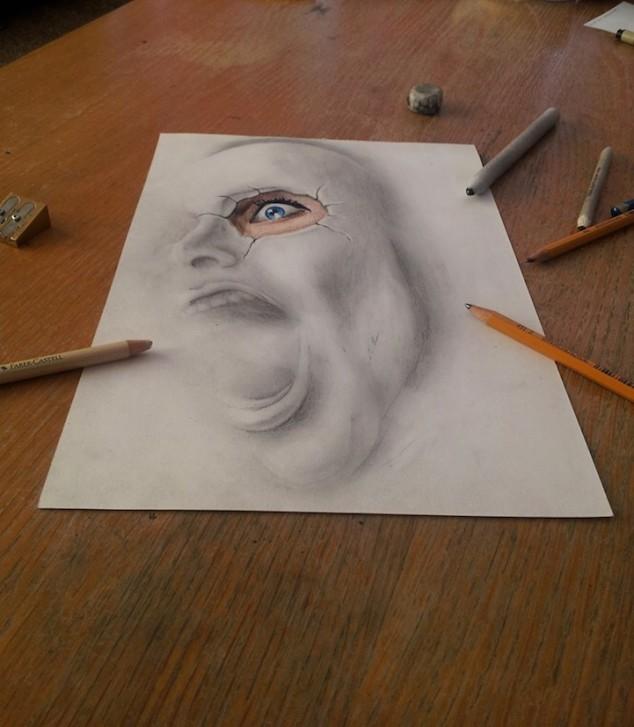 3D Pencil Sketches - 09