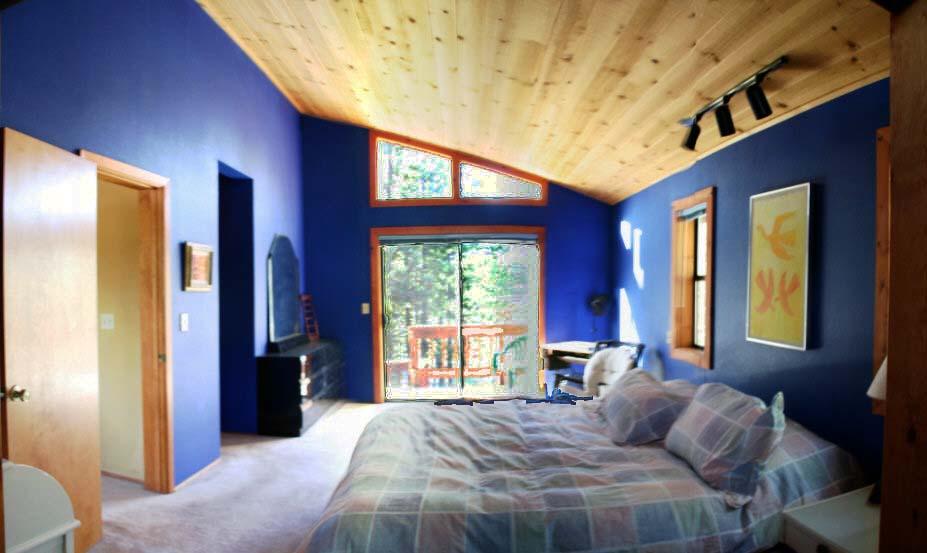 Blått i sovrummet ska betyda att vi sover bättre i och med att vi blir så lugna