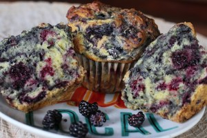 Wild Black Raspberry muffins
