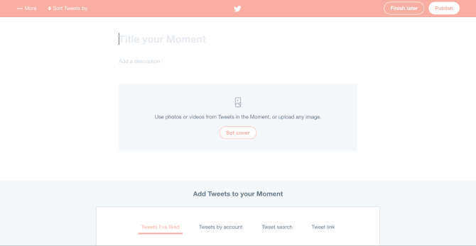 create twitter moment