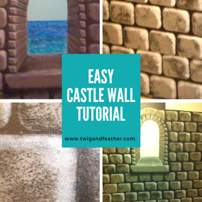 How to Paint an Easy Faux Castle Wall