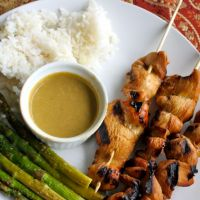 Chicken Saté with Peanut Dipping Sauce