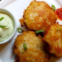 Crab Cakes and Wasabi Mayonnaise