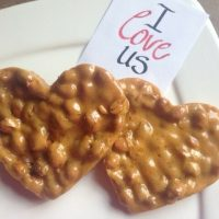 Peanut Brittle Hearts for Valentine's Day