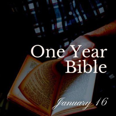 One Year Bible: January 16