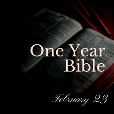 One Year Bible: February 23