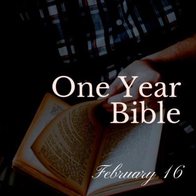 One Year Bible: February 16