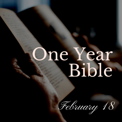 One Year Bible: February 18