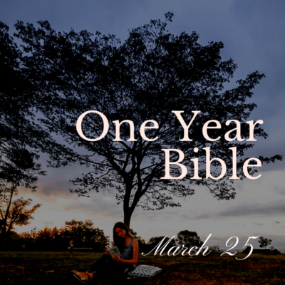 One Year Bible: March 25