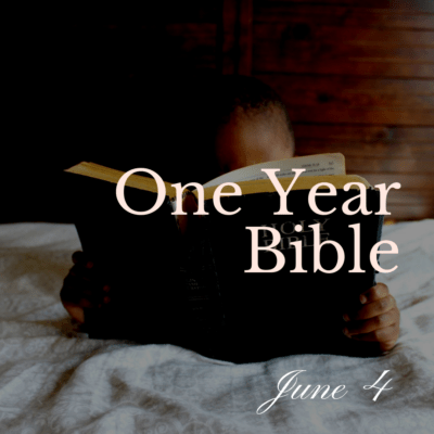 One Year Bible: June 4