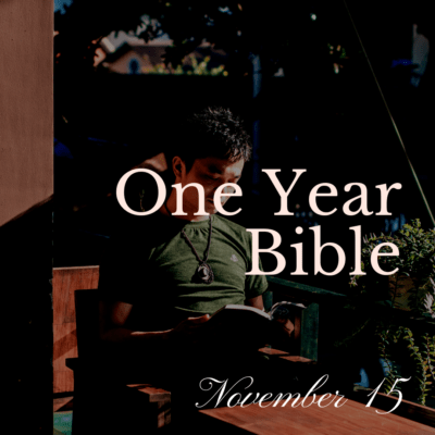 One Year Bible: November 15