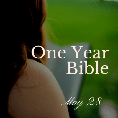 One Year Bible: May 28