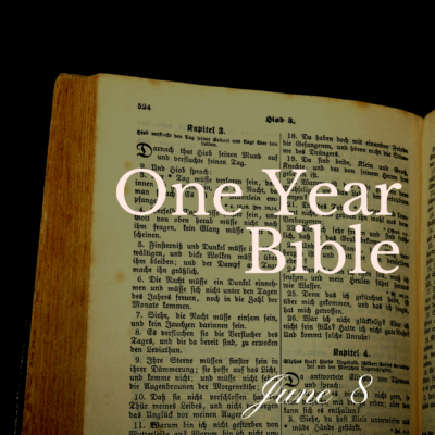 One Year Bible: June 8