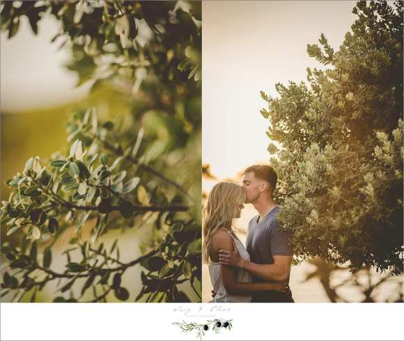 sun drenched engagement session