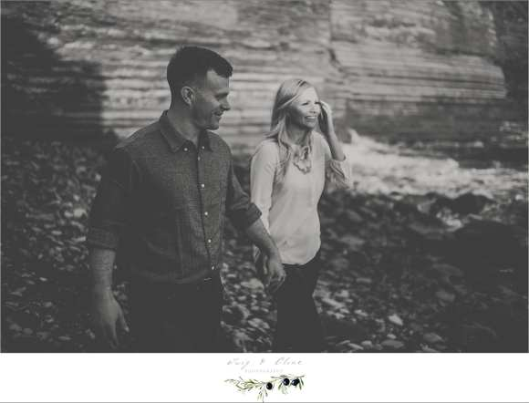 Black and white, rustic engagement photography session