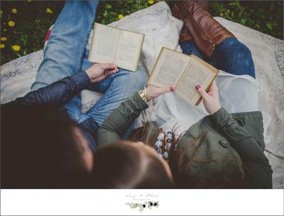 books, love, engagement sessions, Twig and Olive photography
