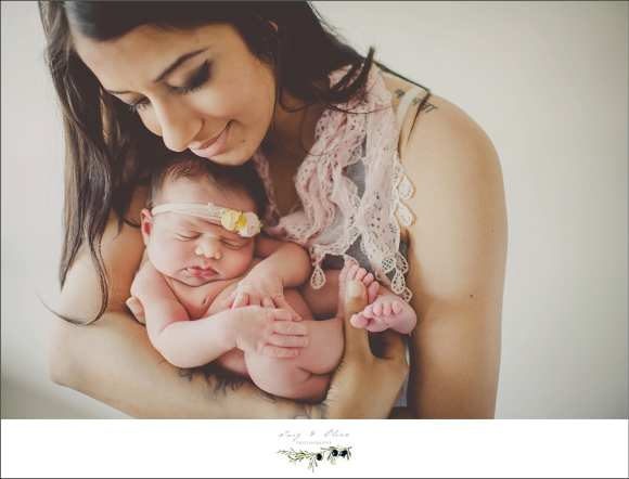 moms and daughters, swaddled, wrapped, embraced, hair flower, pink,  dark hair, children and families, newborns, Twig and Olive photography