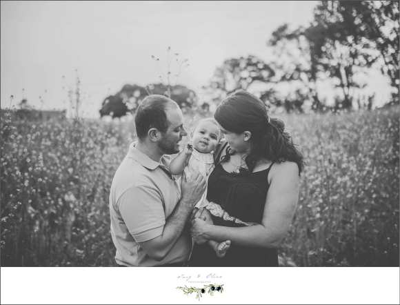 black and white classic image, parents, baby