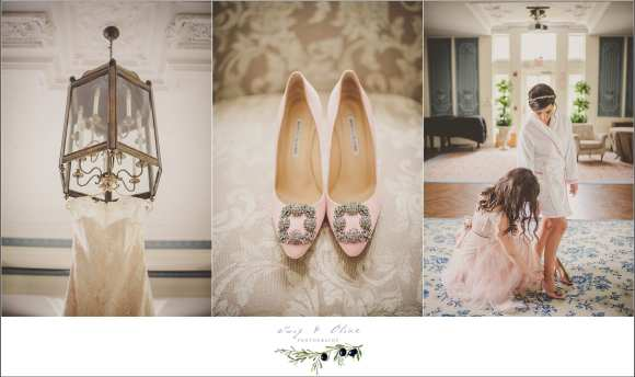 light pink wedding details