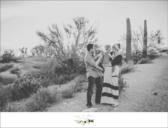 black and white family session