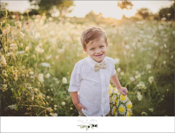 bow tie, little man, flower field