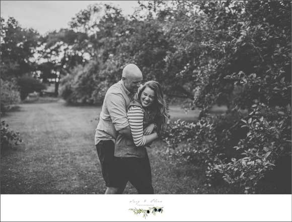 black and white cute, fun, engagement session