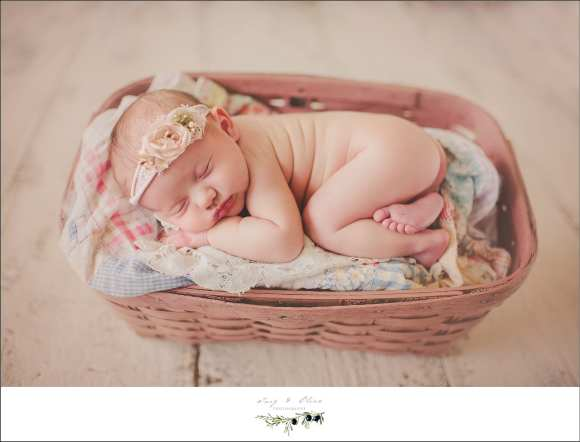 hair flower swaddled newborn